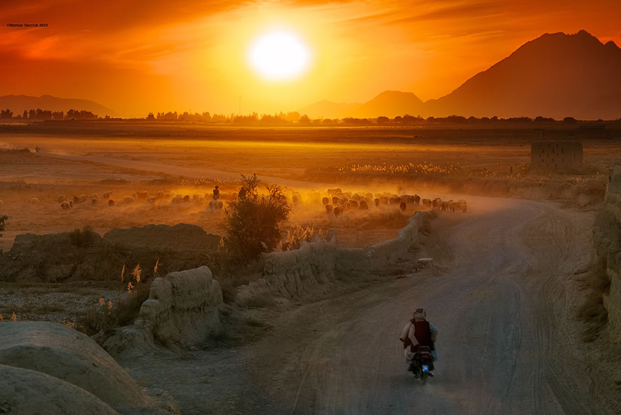 Afghan sunset