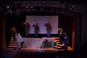 Veteran Chorus Members Salute in The Falling and The Rising